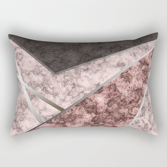 Marble . Combined abstract pattern . Rectangular Pillow