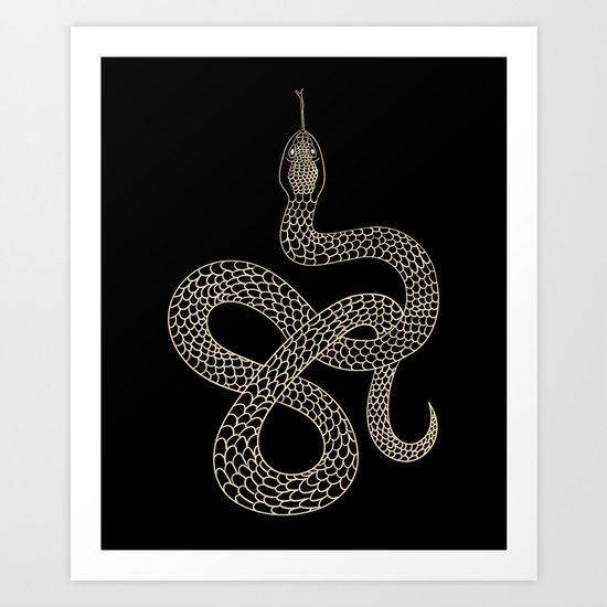 Vintage line snake by iku4
