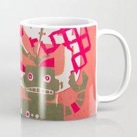 robot Mugs featuring Robot by Jan Luzar