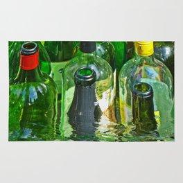 Bottles in water Rug
