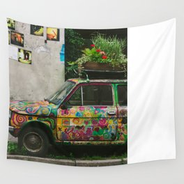 Funky Car Wall Tapestry