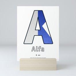 Alfa - Navy Code Mini Art Print