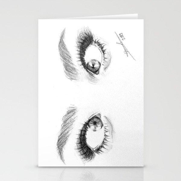 Crossed eyes drawing — 1