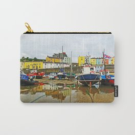 Tenby Harbour Reflection.Wales. Carry-All Pouch