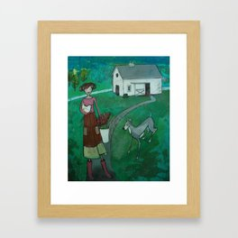 farm girl Framed Art Print