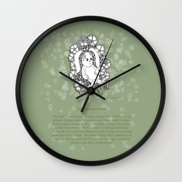 Velveteen Rabbit Wisdom Illustration for Children Wall Clock