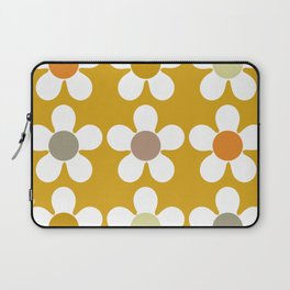 Spring Daisies on Yellow Laptop Sleeve