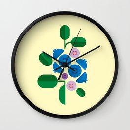 Fruit: Blueberry Wall Clock
