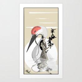 Release The Cranes Art Print