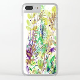 Leaves texture 02 Clear iPhone Case