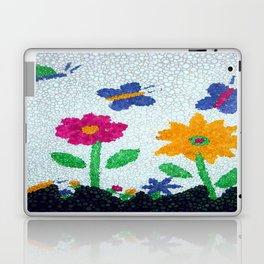 Butterflies and spring flowers bubble art Laptop & iPad Skin