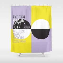 New Moon - Sept 2017 Shower Curtain