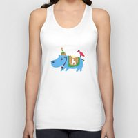 hippo Tank Tops featuring hippo by sosie&gogo