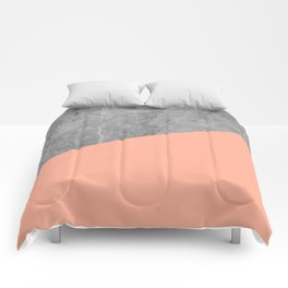 Geometry 101 Sweet Peach Pink Comforters
