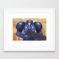 starcraft Framed Art Prints featuring Space Marine by Tomcii