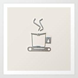 COFFEE ANYONE? Art Print