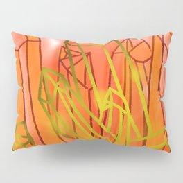 Crystals - Orange Pillow Sham