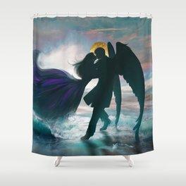 Angel romance embrace Shower Curtain