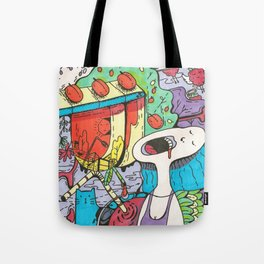 Summer Day in the Countryside Full of Happiness, Berries, Cats and Love Tote Bag