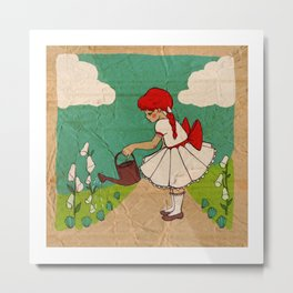 Mary Mary Quite Contrary Metal Print