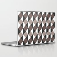 gray pattern Laptop & iPad Skins featuring Pattern Gray by Sonia Marazia