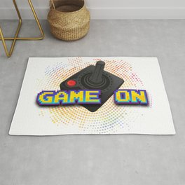 Game On Retro Gamer Rug