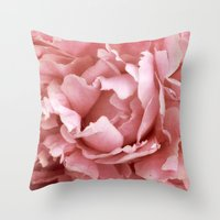 peony Throw Pillows featuring Peony by Cindi Ressler Photography