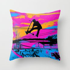 Lets Fly!  - Stunt Scooter Throw Pillow