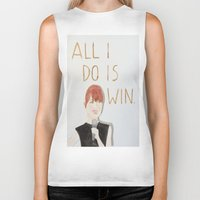 emma stone Biker Tanks featuring All I do is win, Emma stone  by Thespanishlady