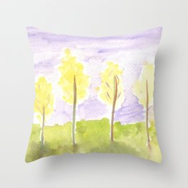 #57. UNTITLED (FALL) - Trees Throw Pillow