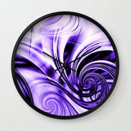 Curls Deluxe Purple Wall Clock