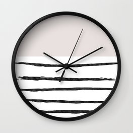 Mineral Taupe | Modern Watercolor Wall Clock