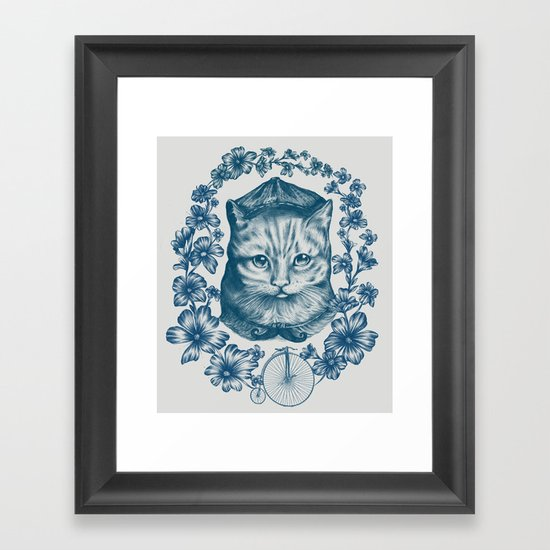 VINTAGE CAT Framed Art Print