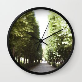 The Garden Paths in France Wall Clock