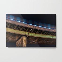 Night city and a bridge (Nantong, China) (2015-8NNH) Metal Print