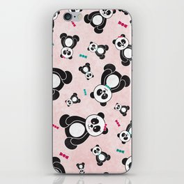 Panda Freefall in Pink iPhone Skin