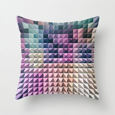 abstract volumetric geometric background with peak Throw Pillow