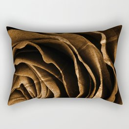 Sepia Grunge Rose Rectangular Pillow