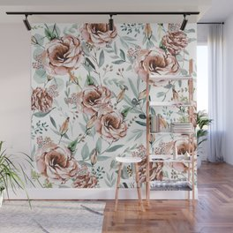 Floral Explosion - White Wall Mural