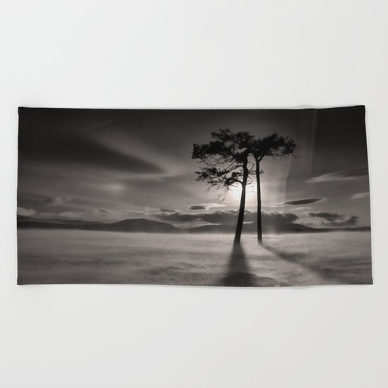 Two trees Beach Towel