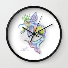 HummingMermaid Wall Clock
