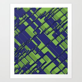 3D Abstract Futuristic Background III Art Print