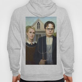 Dwight and Angela from the The Office in American Gothic Hoody