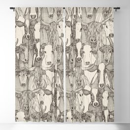 just cattle natural Blackout Curtain