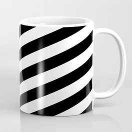Diagonal Stripes Black & White Coffee Mug