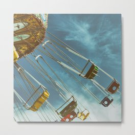 Empty Swings Metal Print