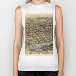 Map Of Knoxville 1871 Biker Tank