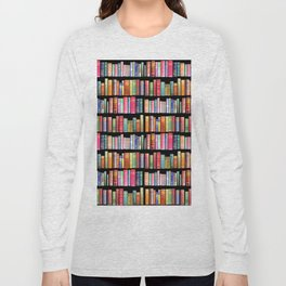 Vintage Book Library for Bibliophile Long Sleeve T-shirt