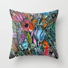Garden Grows Throw Pillow