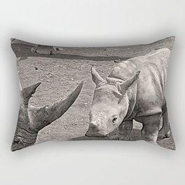 Rhino Family Rectangular Pillow